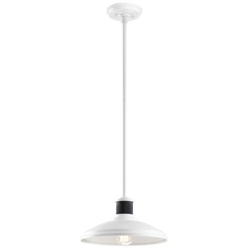 Allenbury White One-Light Convertible Pendant