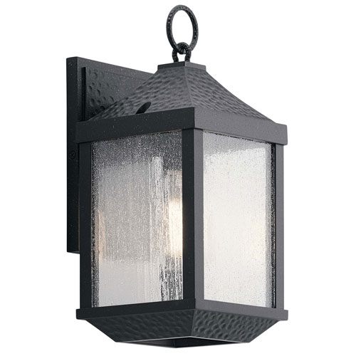 Springfield Outdoor Wall 1-Light in Distressed Black