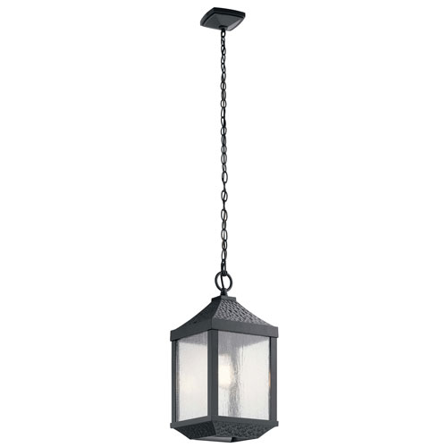 Springfield Outdoor 1-Light Pendant in Distressed Black