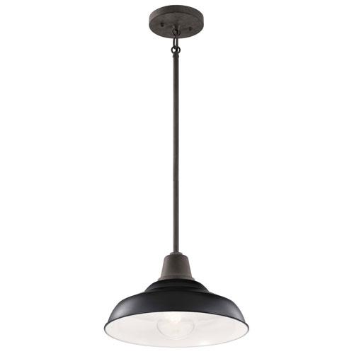 Pier Black 13-Inch One-Light Convertible Pendant