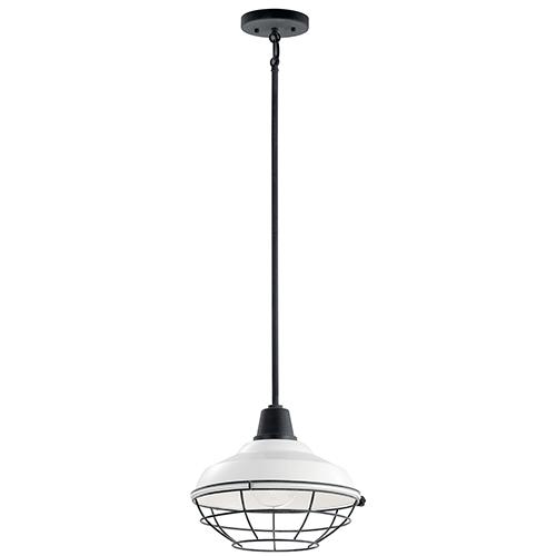 Pier White One-Light 12-Inch Outdoor Pendant