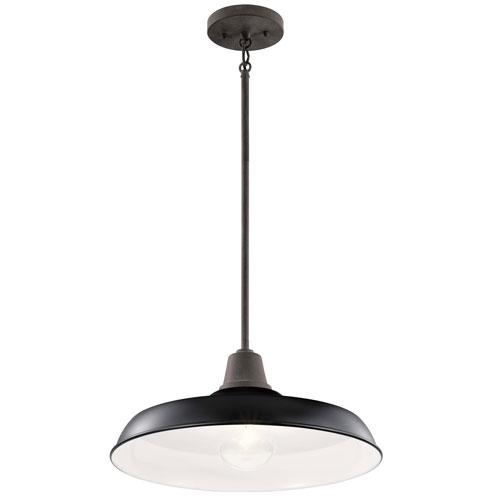 Pier Black 17-Inch One-Light Convertible Pendant