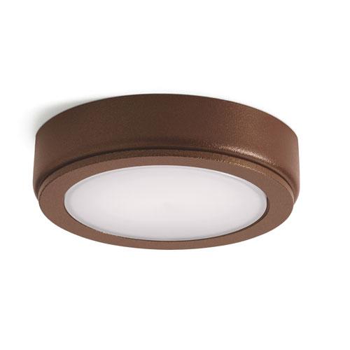 4D Textured Bronze 2700K LED Undercabinet Disc
