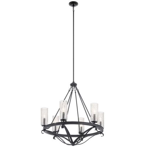 Krysia Black 29-Inch Six-Light Chandelier