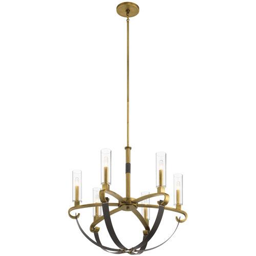 Artem Natural Brass Six-Light Chandelier