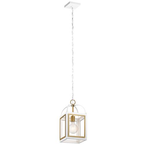 Vath White One-Light Mini Pendant