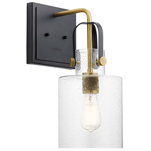 Kitner Natural Brass One-Light Wall Sconce