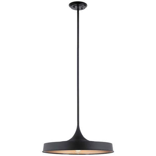 Elias Black 10-Inch One-Light Convertible Pendant