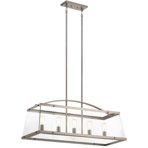 Darton Classic Pewter Five-Light Chandelier