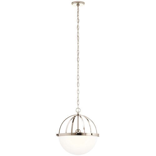 Edmar Polished Nickel Three-Light Pendant