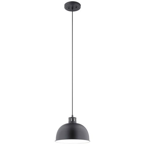 Zailey Black Nine-Inch One-Light Pendant