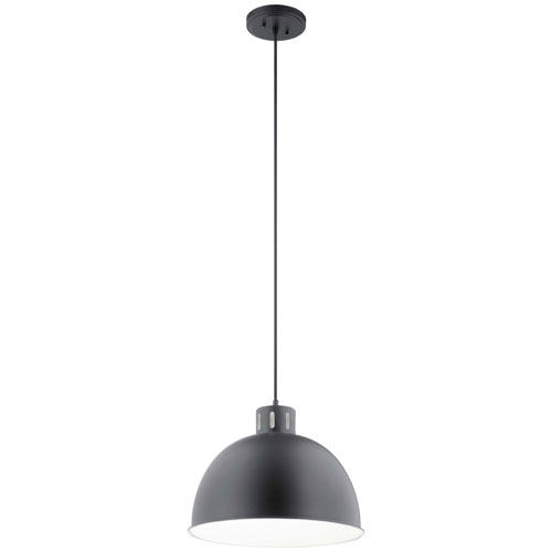 Zailey Black 13-Inch One-Light Pendant