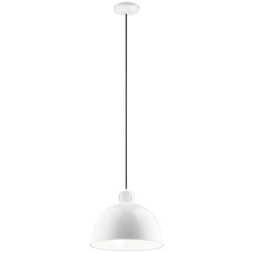 Zailey White 16-Inch One-Light Pendant