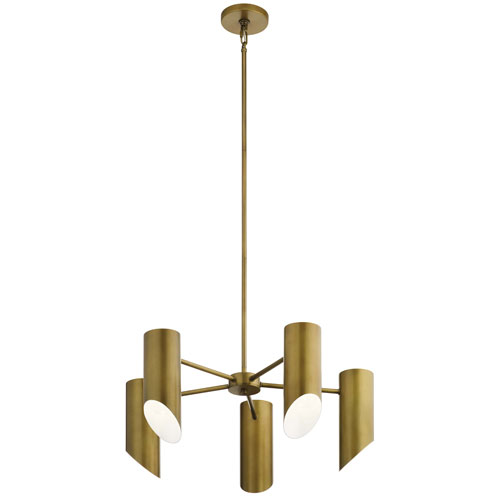 Trentino Natural Brass Five-Light Chandelier