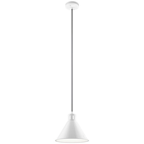 Zailey White One-Light Pendant