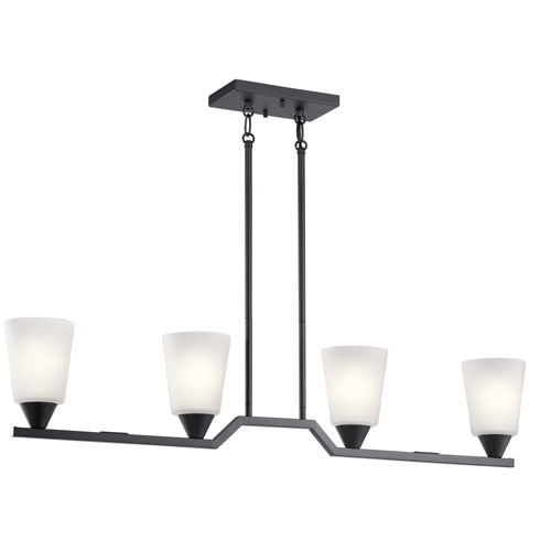Skagos Black Four-Light Mini Chandelier