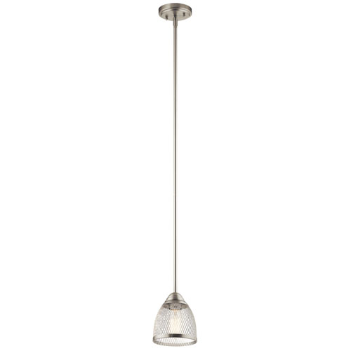 Voclain Brushed Nickel One-Light Mini Pendant