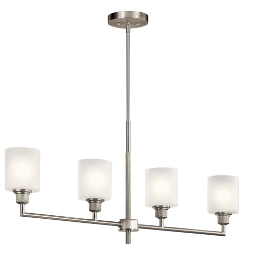 Lynn Haven Brushed Nickel Four-Light Mini Chandelier