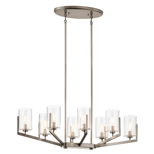 Nye Classic Pewter Eight-Light Chandelier