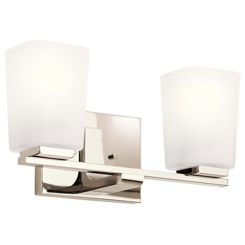 Roehm Polished Nickel Two-Light Bath Vanity