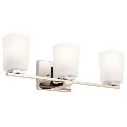 Roehm Polished Nickel Three-Light Bath Vanity