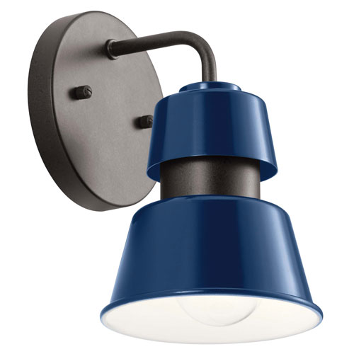 Lozano Catalina Blue Eight-Inch One-Light Outdoor Wall Sconce