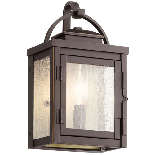 Carlson Rubbed Bronze One-Light Outdoor Wall Sconce