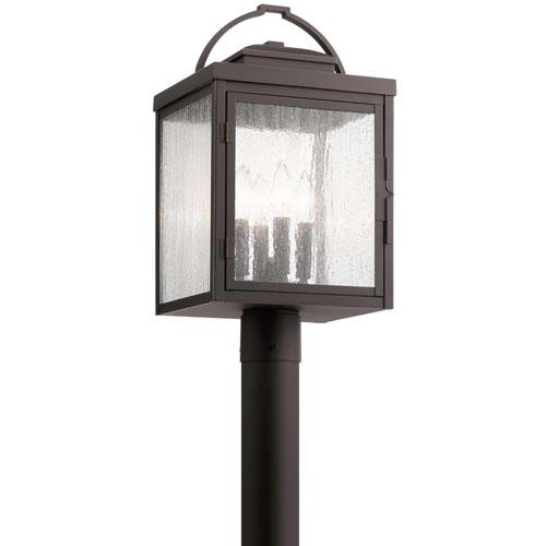 Carlson Rubbed Bronze Four-Light Outdoor Post Lantern