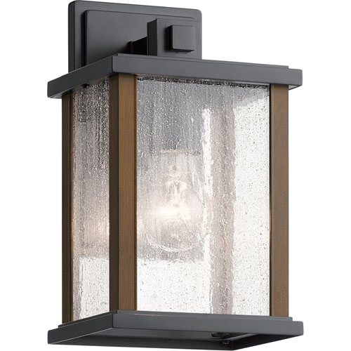 Marimount Black 11-Inch One-Light Outdoor Wall Sconce