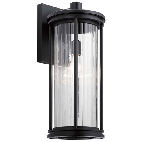 Barras Black 20-Inch One-Light Outdoor Wall Sconce