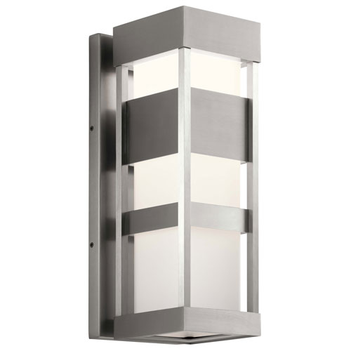 Ryler Brushed Aluminum Seven-Inch LED Outdoor Wall Sconce