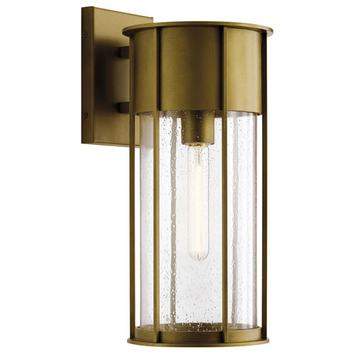 Camillo Natural Brass Eight-Inch One-Light Outdoor Wall Mount