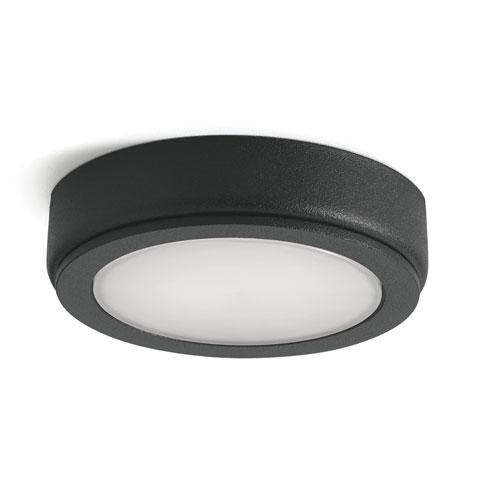 6D Series Textured Black 24V DC 3000K LED Undercabinet Puck Light