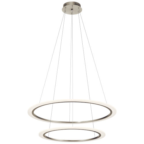 Hyvo Brushed Nickel 37-Inch Two-Light LED Chandelier
