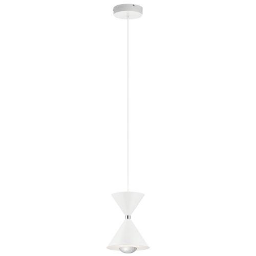 Kordan Matte White Eight-Inch LED Mini Pendant