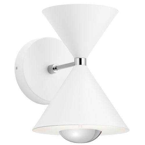 Kordan Matte White Eight-Inch LED Wall Sconce