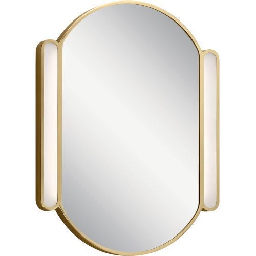 Sorno Champagne Gold 23-Inch LED Wall Mirror