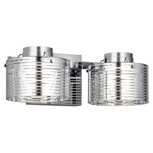 Santora Chrome 15-Inch Two-Light LED Bath Vanity