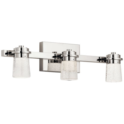 Vada Polished Nickel 22-Inch Three-Light LED Bath Vanity