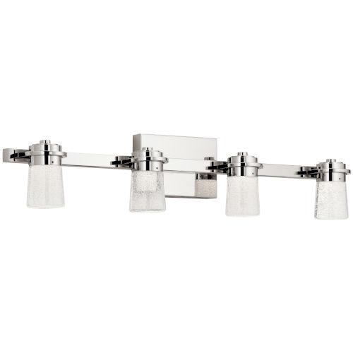 Vada Polished Nickel 31-Inch Four-Light LED Bath Vanity