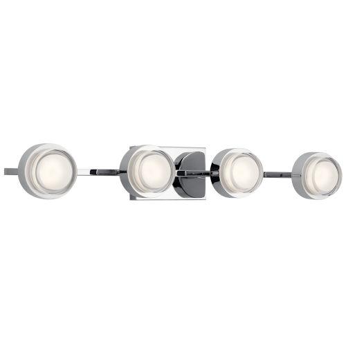 Harlaw Chrome 31-Inch Four-Light LED Bath Vanity