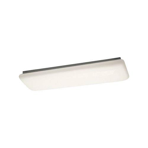 White Two-Light Ceiling Light