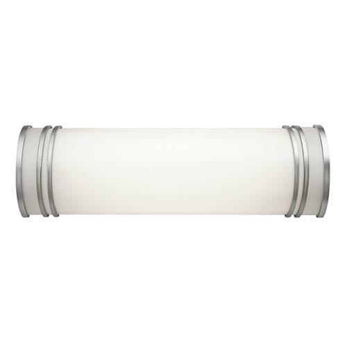White 18-Inch Two-Light Fluorescent Bath Vanity Fixture
