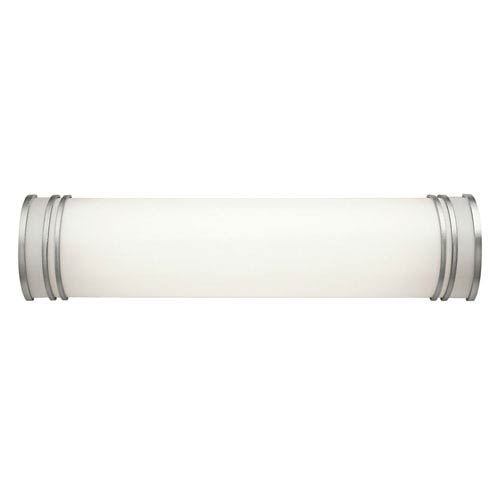 White 24-Inch Two-Light Fluorescent Bath Vanity Fixture