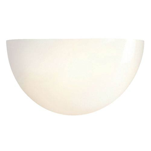 White Two-Light Fluorescent Wall Sconce