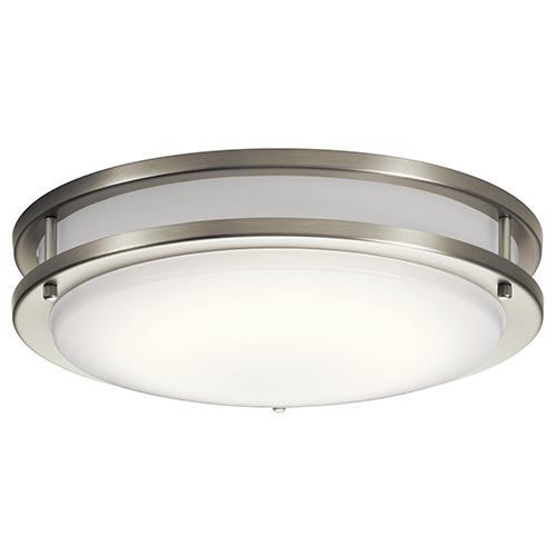 Avon Brushed Nickel 14-Inch LED Flush Mount