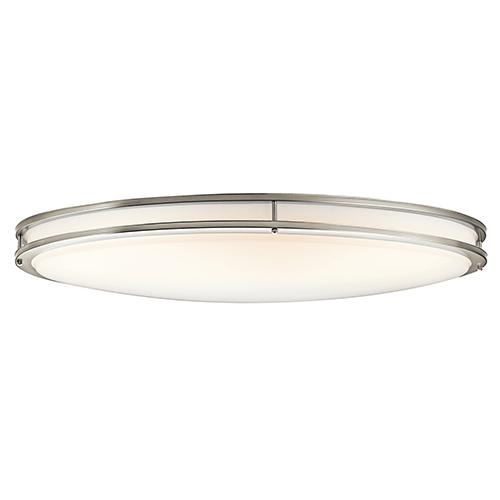 Avon Brushed Nickel 18-Inch LED Flush Mount