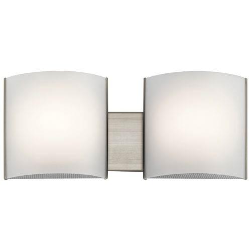 Kichler Brushed Nickel 19-Inch Energy Star LED Two-Arm Bath Light