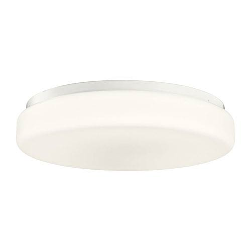 18-Inch White Fluorescent Flush Mount