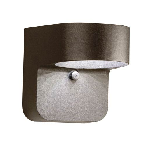 Kichler Linear Textured Architectural Bronze LED One Light 5.5-Inch Outdoor Wall Lantern